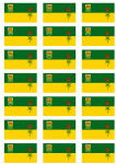 Saskatchewan Flag Stickers - 21 per sheet